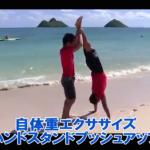 【SAWAKI GYMチャンネル】自体重エクササイズ~ハンドスタンドプッシュアップ~