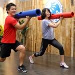 永島一平トレーナーのパーソナルトレーニング指導風景